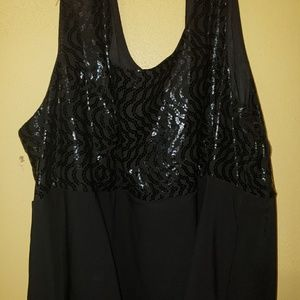 Fashion Bug Dresses - Black Fashion Bug Sleeveless Cocktail Midi Dress
